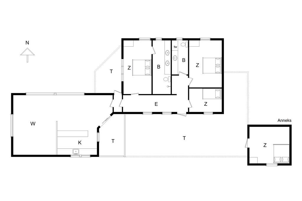 Innenausstattung 1-14 Ferienhaus 358, Kaskelotten 5, DK - 9490 Pandrup