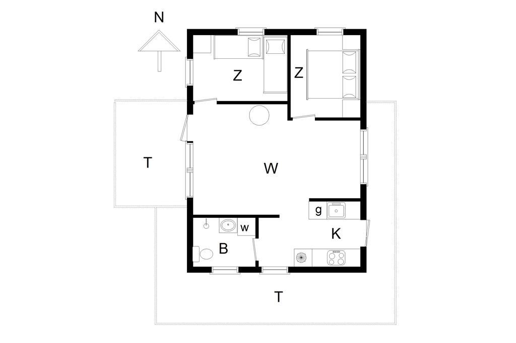 Innenausstattung 1-14 Ferienhaus 528, Rosavej 5, DK - 9480 Løkken
