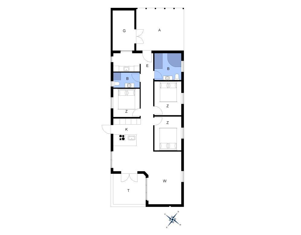 Innenausstattung 1-14 Ferienhaus 1134, Bloksbjerg 17, DK - 9492 Blokhus