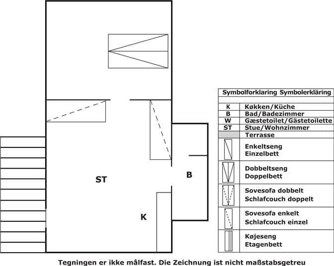 Indretning 1-3 Sommerhus L18202, Kokkedalsvej 19, DK - 9460 Brovst