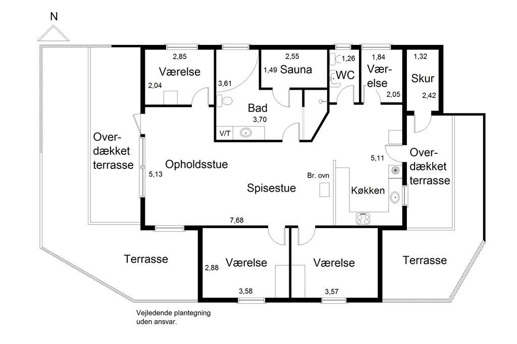 Innenausstattung 1-125 Ferienhaus 4128, Gl. Strandvej 19, DK - 6854 Henne