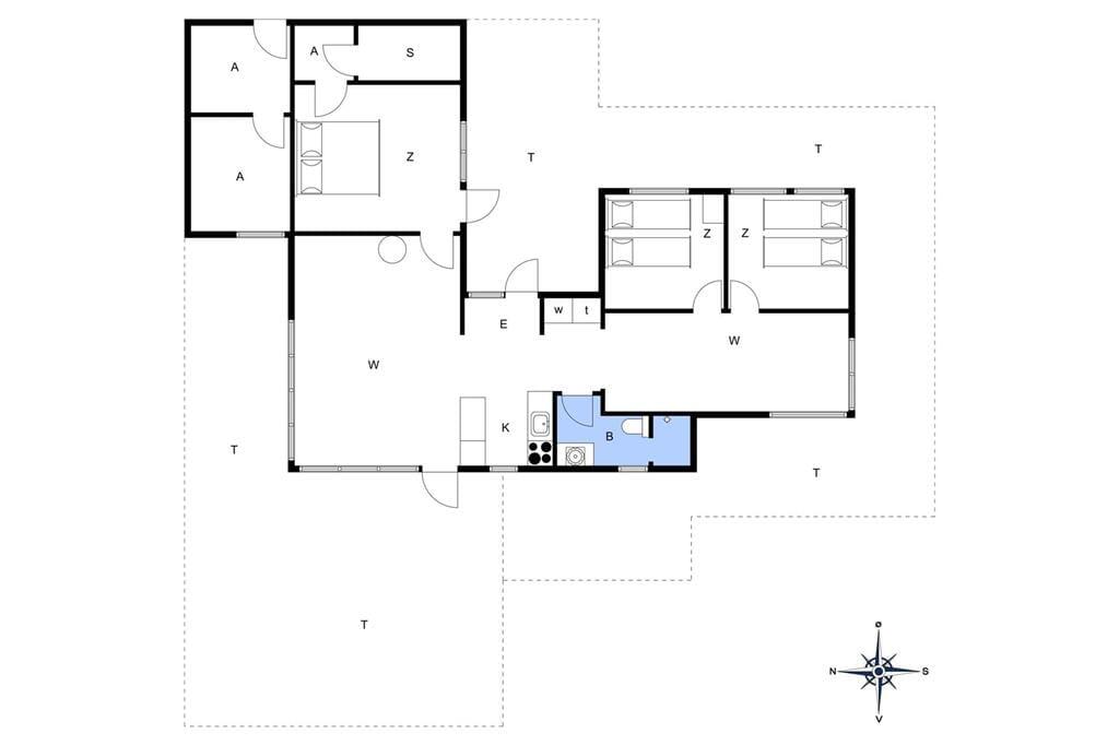 Indretning 1-11 Sommerhus 0224, J Tagholmsvej 12, DK - 6792 Rømø