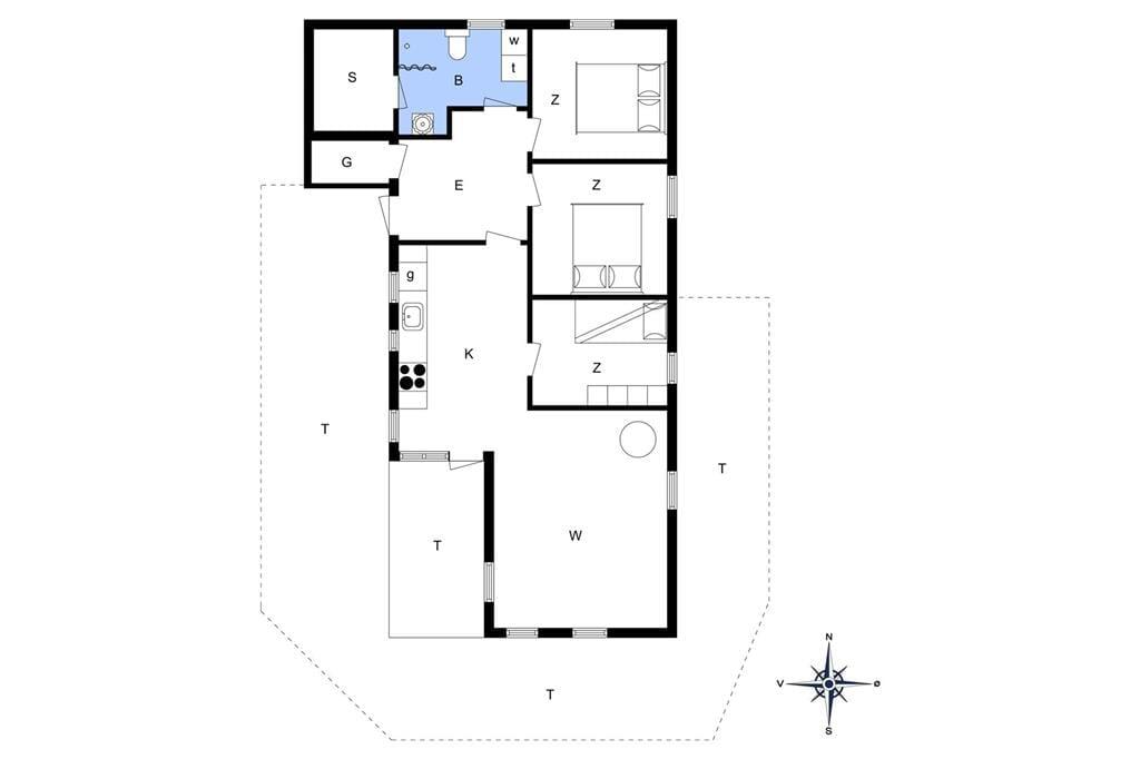 Indretning 1-13 Sommerhus 832, Hellesvej 29, DK - 7770 Vestervig