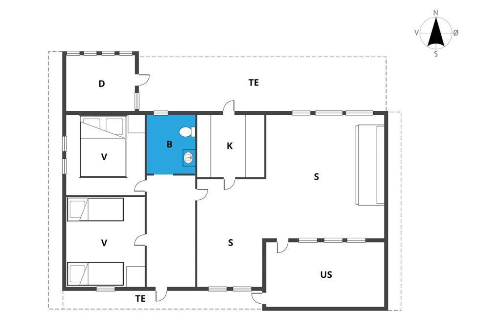 Indretning 1-19 Sommerhus 40301, Trekanten 8, DK - 7130 Juelsminde