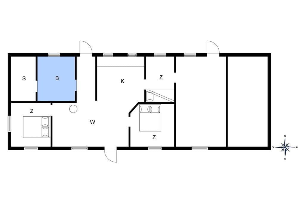 Inredning 1-10 Stuga 4735, Søndre Landevej 80, DK - 3720 Aakirkeby