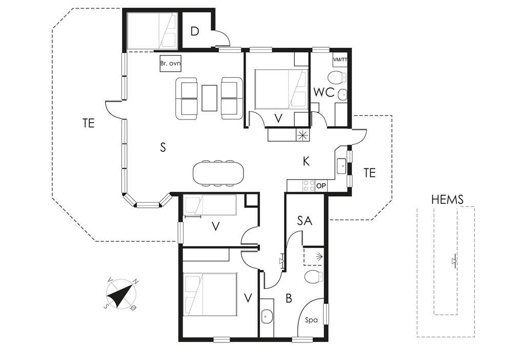 Innenausstattung 1-19 Ferienhaus 30552, Kystagervej 7, DK - 8300 Odder