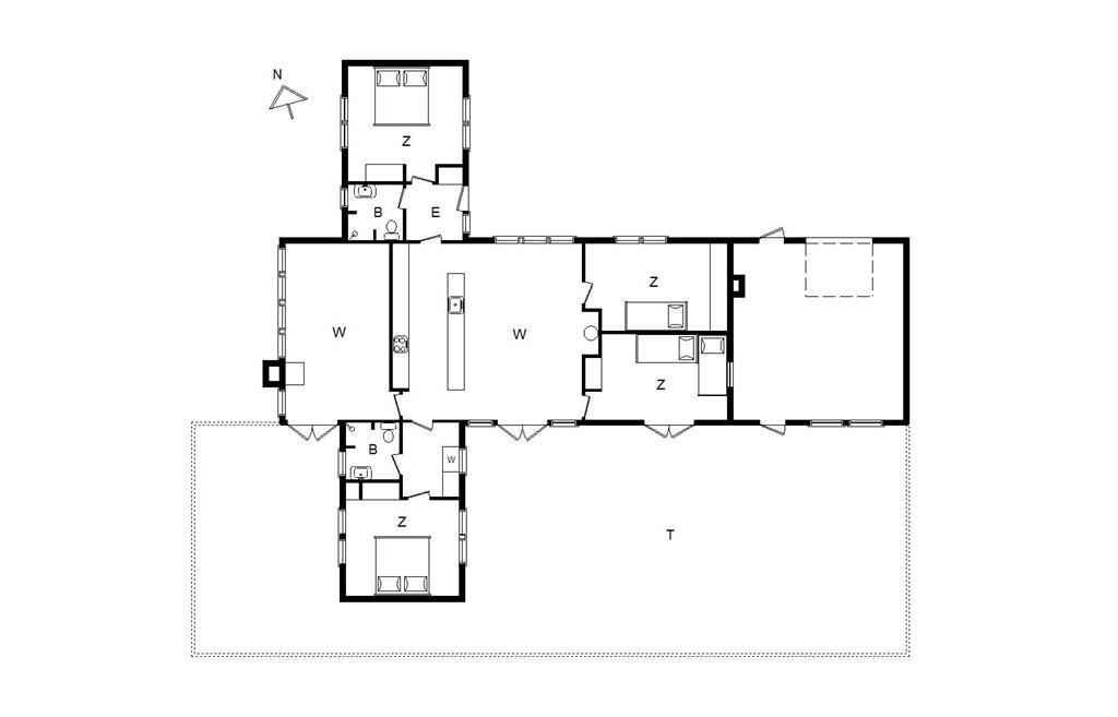 Interieur 1-14 Vakantiehuis 128, Klaus Bjergsvej 9, DK - 9493 Saltum