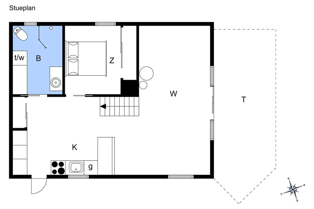 Indretning 1-13 Sommerhus 142, Pighvarvej 4, DK - 7700 Thisted