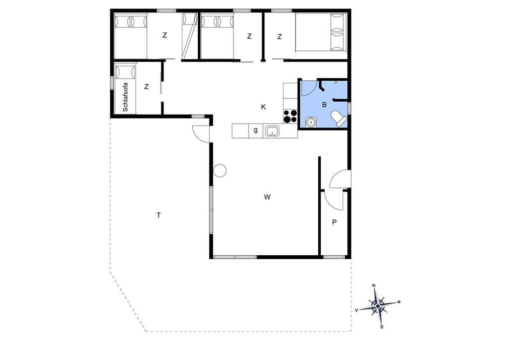 Inredning 1-22 Stuga C11098, Tranevænget 2, DK - 6893 Hemmet