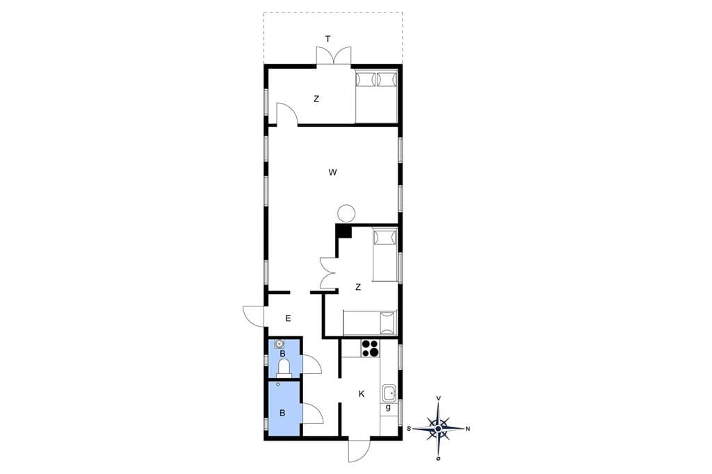 Innenausstattung 1-10 Ferienhaus 6719, Nyker Strandvej 89, DK - 3700 Rønne