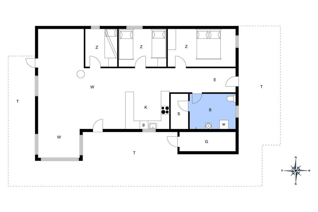 Indretning 1-13 Sommerhus 874, Nordsøvej 228, DK - 7700 Thisted