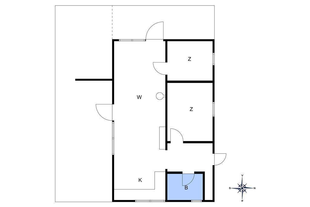 Inredning 1-10 Stuga 1403, Sortspættevej 12, DK - 3720 Aakirkeby