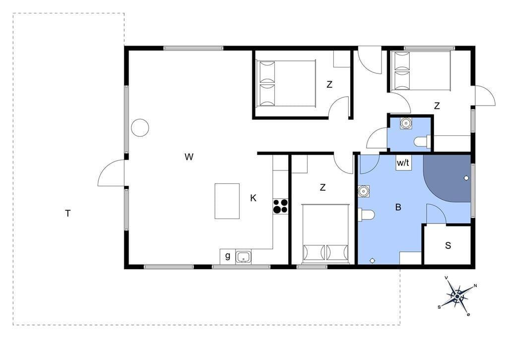 Indretning 1-22 Sommerhus C11308, Stikkelsbærvej 41, DK - 6880 Tarm