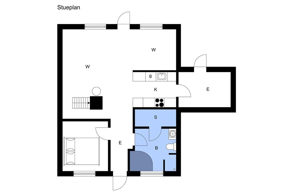 Indretning 1-3 Sommerhus M64340, Strandgårdsvej 209, DK - 5464 Brenderup Fyn