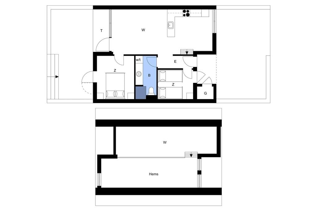 Indretning 1-4 Sommerhus 905, Langsand 80, DK - 6960 Hvide Sande