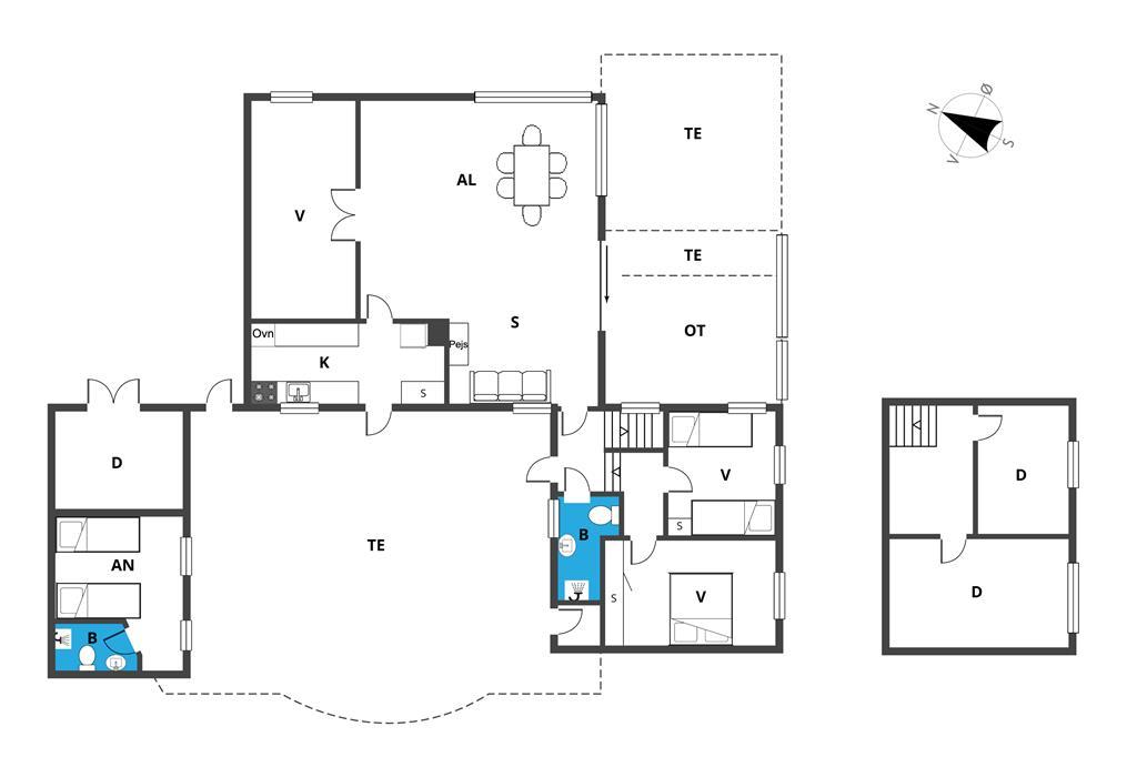 Indretning 1-19 Sommerhus 30003, Ajstrup Strandvej 100, DK - 8340 Malling