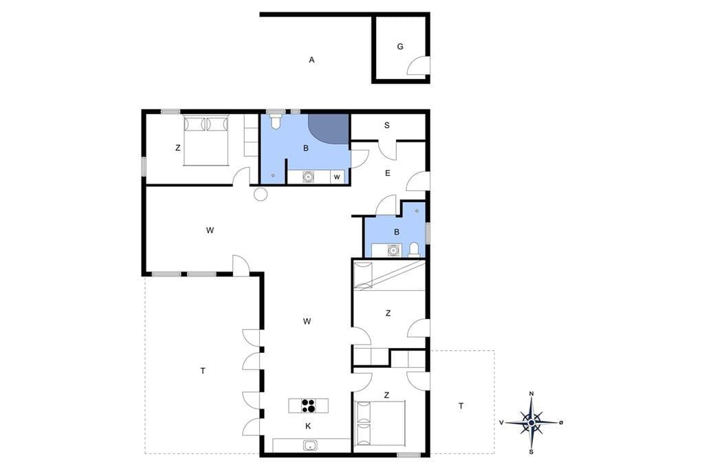 Interieur 1-172 Vakantiehuis JB908, Kronvildtvej 190, DK - 9460 Brovst