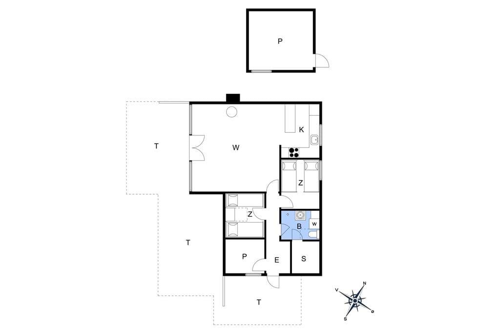 Indretning 1-11 Sommerhus 0161, Ejnar Mikkelsensvej 4, DK - 6792 Rømø