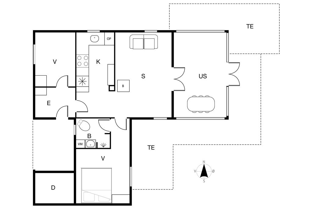 Interieur 1-19 Vakantiehuis 30046, Havvænget 3, DK - 8340 Malling