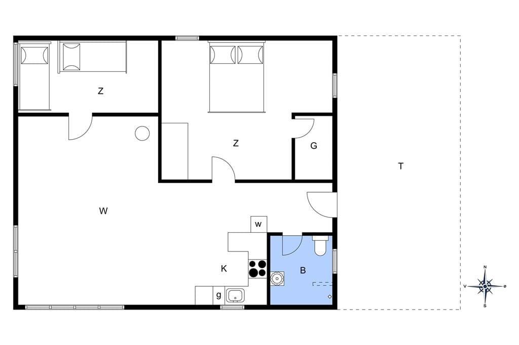Indretning 1-13 Sommerhus 527, Mølgaardsvej 43, DK - 7700 Thisted