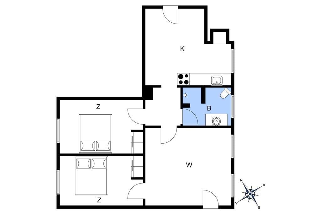 Indretning 1-3 Sommerhus M65527, Hovgårdsvej 6, DK - 5591 Gelsted
