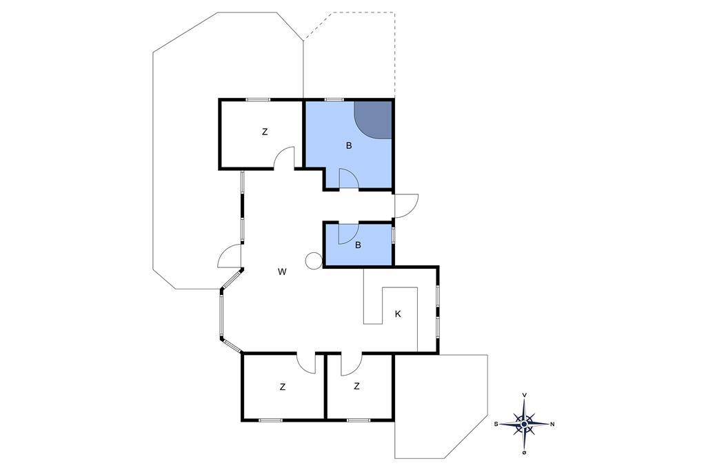 Innredning 1-10 Feirehus 2642, Skovsangervej 33, DK - 3730 Nexø