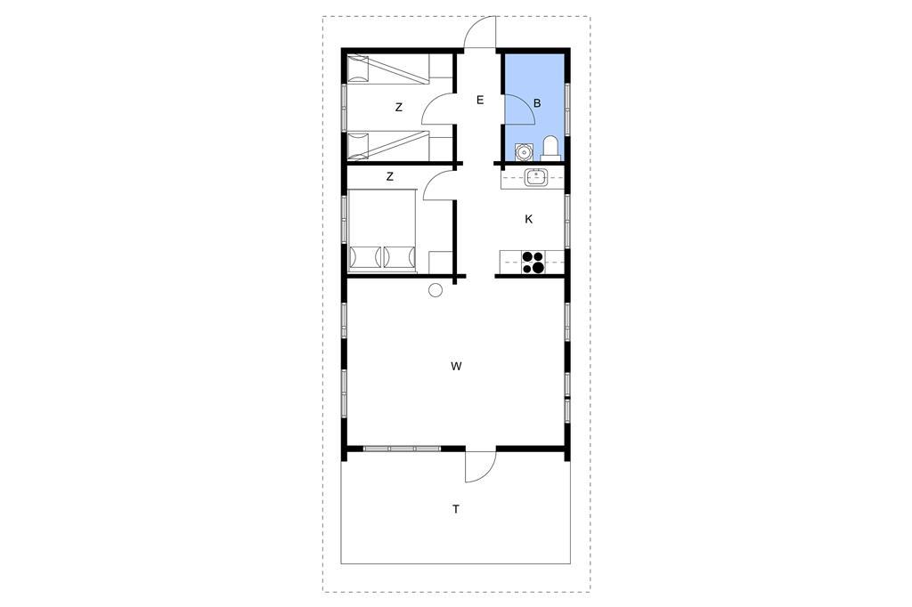 Indretning 1-3 Sommerhus M67361, Pilevænget 1, DK - 5900 Rudkøbing