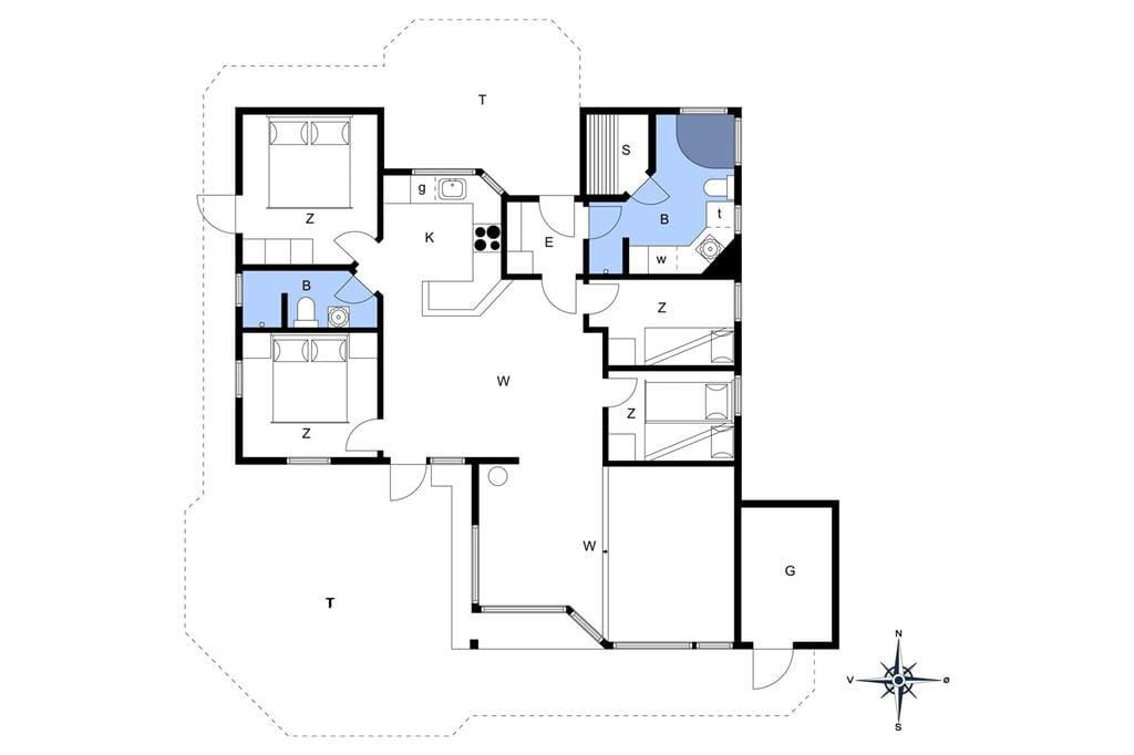 Indretning 1-14 Sommerhus 1600, Daadyrvej 25, DK - 9493 Saltum