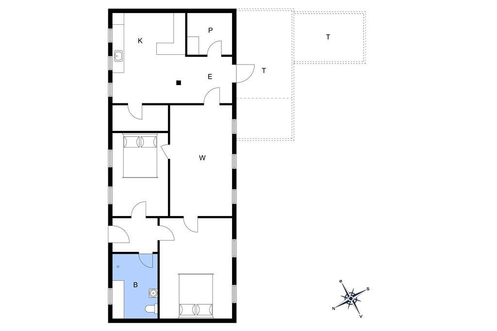 Innredning 1-10 Feirehus 4732, Grammegårdsvej 22, DK - 3720 Aakirkeby