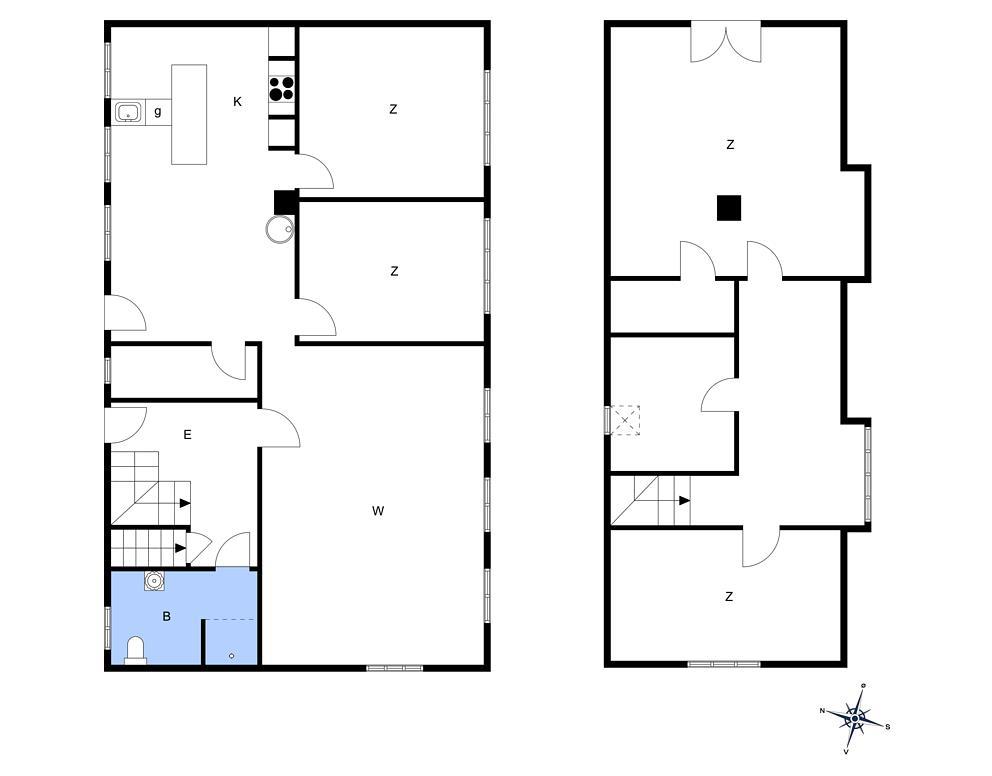 Indretning 1-15 Sommerhus 4055, Kraneledvej 21, DK - 4791 Borre