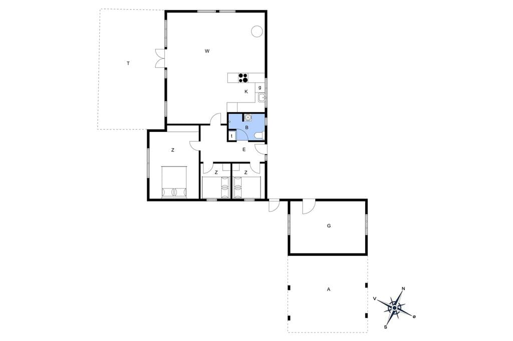 Indretning 1-13 Sommerhus 933, Sine Krokones Vej 1, DK - 7700 Thisted