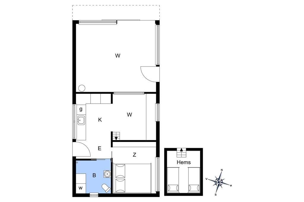 Indretning 1-4 Sommerhus 801, Æ Gammel Havn 21, DK - 6960 Hvide Sande