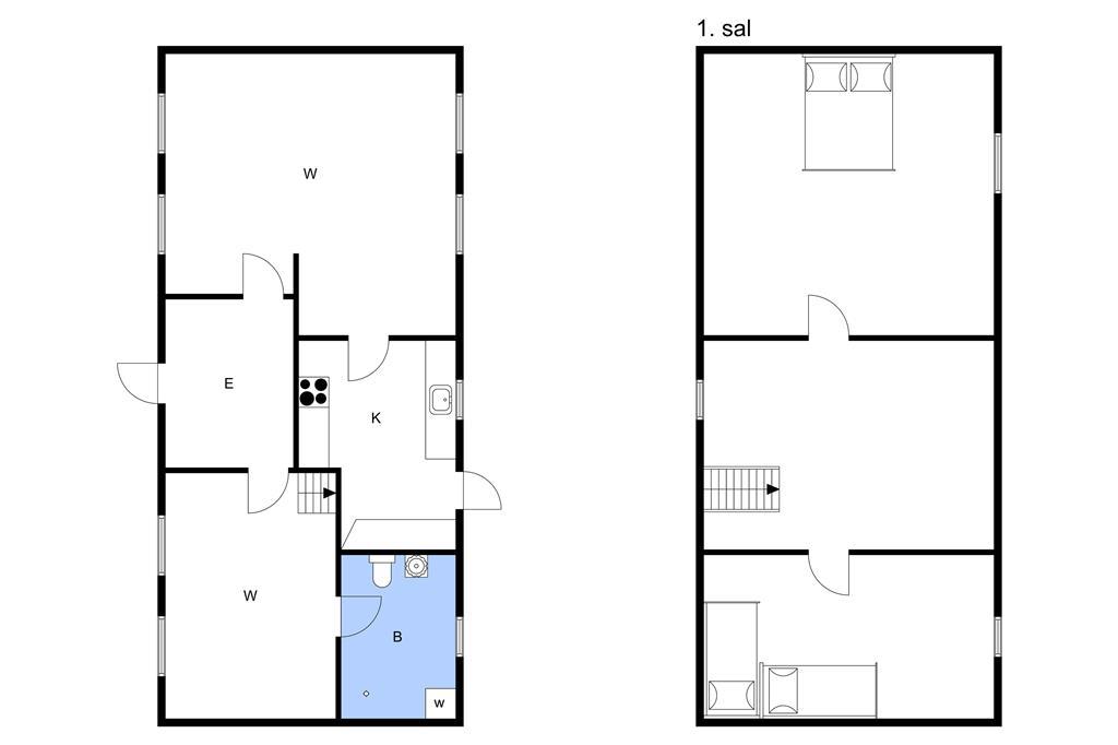 Indretning 1-3 Sommerhus M70118, Snaregade 7, DK - 5960 Marstal