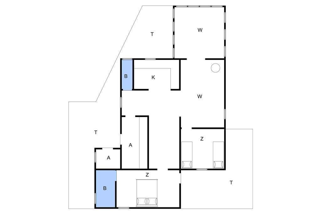 Indretning 1-4 Sommerhus 338, Lyngvig Havnevej 4, DK - 6960 Hvide Sande