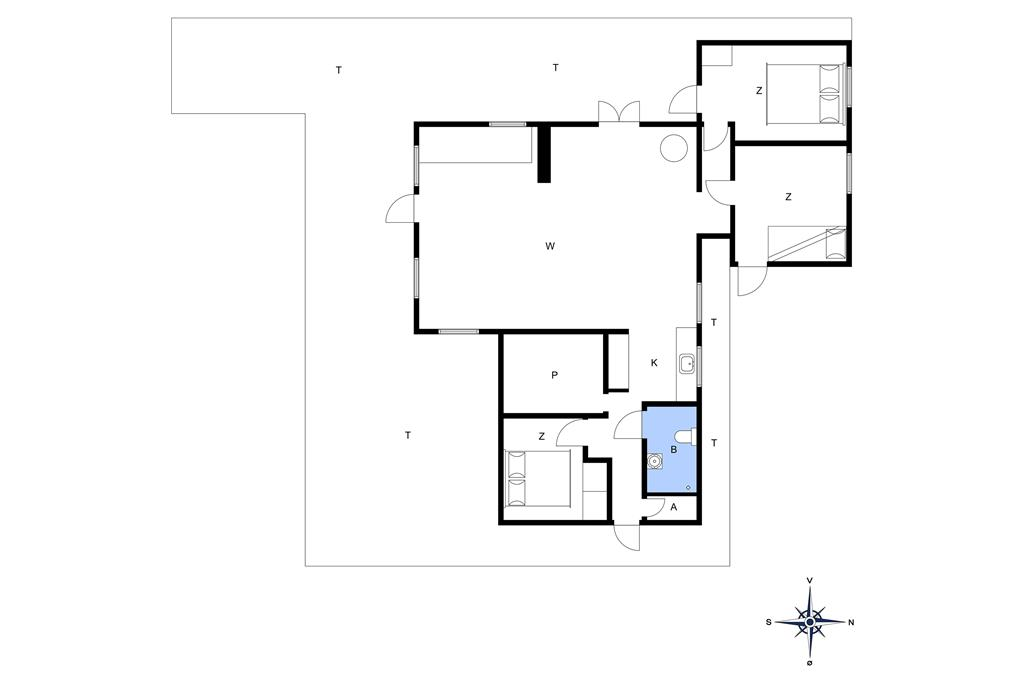 Indretning 1-14 Sommerhus 1157, Ingersvej 5, DK - 9492 Blokhus