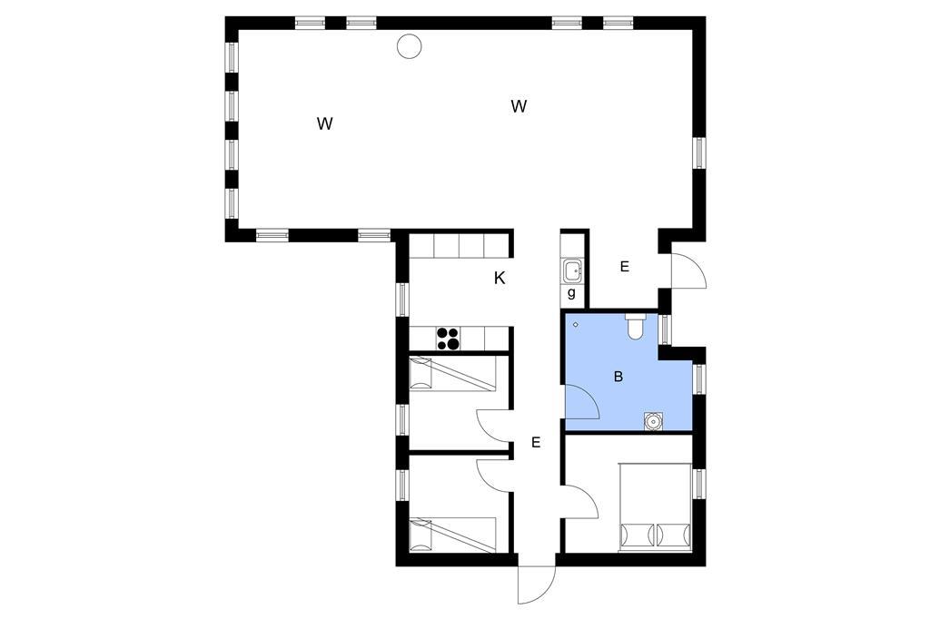 Indretning 1-3 Sommerhus L15112, Hjejlevej 2, DK - 9640 Farsø