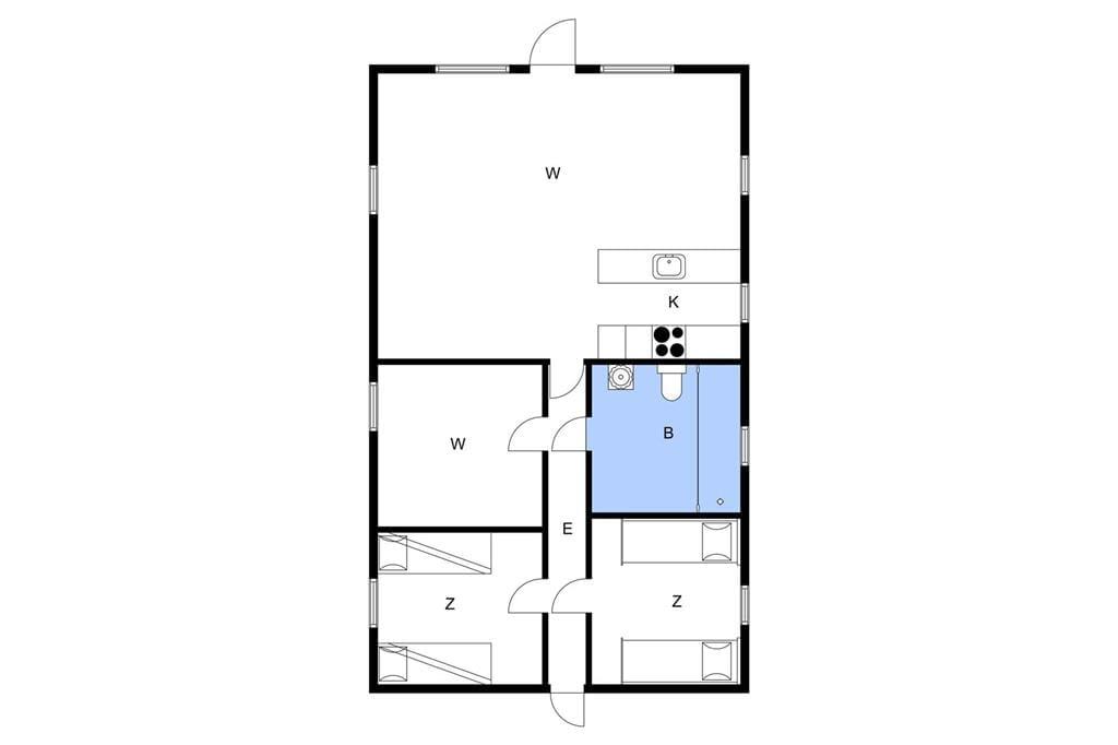 Indretning 1-3 Sommerhus L14040, Eskovvej 54, DK - 7870 Roslev