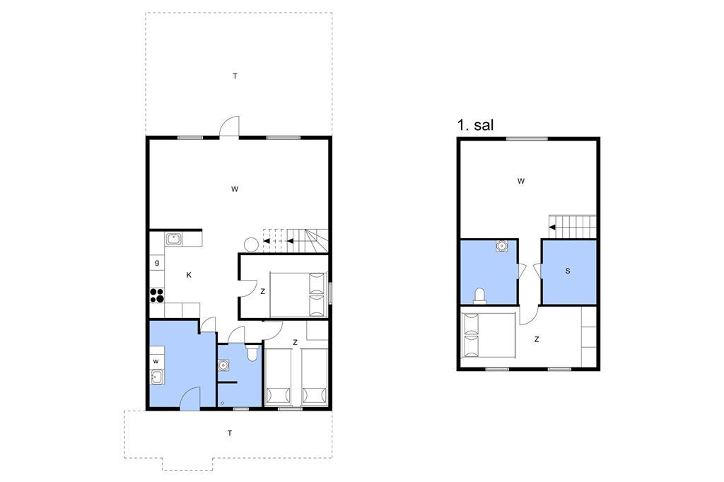 Innenausstattung 1-11 Ferienhaus 0185, Råbjergvej 82, DK - 6792 Rømø