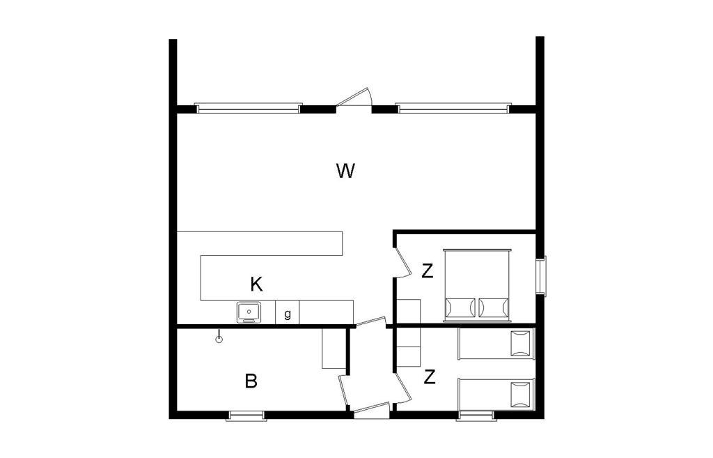 Indretning 1-20 Sommerhus 115, Strandvejen 164, DK - 7673 Harboøre