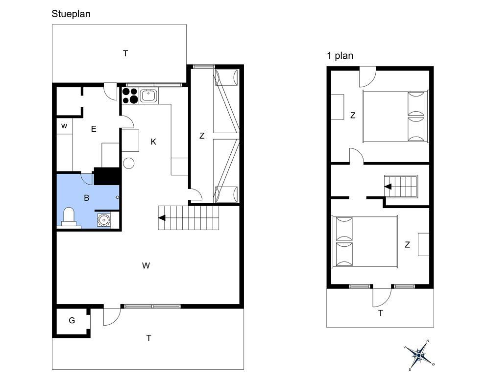Inredning 1-14 Stuga 1193, Narhvalen 14, DK - 9490 Pandrup