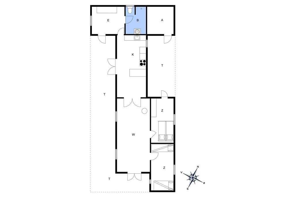 Indretning 1-15 Sommerhus 4309, Oddermose Strandvej 15, DK - 4780 Stege