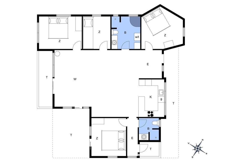 Indretning 1-172 Sommerhus JB237, Egernvej 13, DK - 9460 Brovst