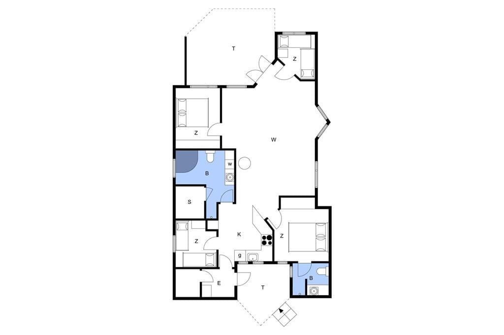 Indretning 1-15 Sommerhus 8157, Svalevej 3, DK - 4720 Præstø