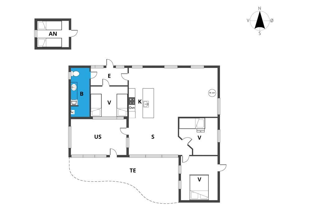 Innenausstattung 1-19 Ferienhaus 30066, Høgevænget 13, DK - 8330 Beder