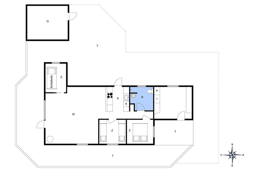Innredning 1-11 Feirehus 0040, Tranebærvej 5, DK - 6792 Rømø