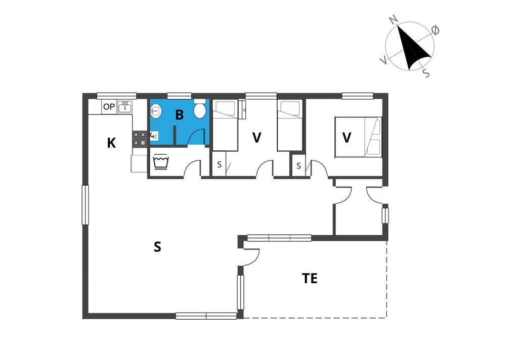 Indretning 1-19 Sommerhus 40520, Pøt Strandby 126, DK - 7130 Juelsminde