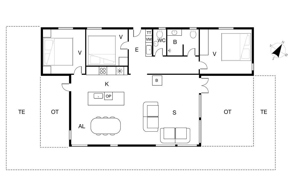 Innenausstattung 1-19 Ferienhaus 40123, Ved Diget 3, DK - 7130 Juelsminde