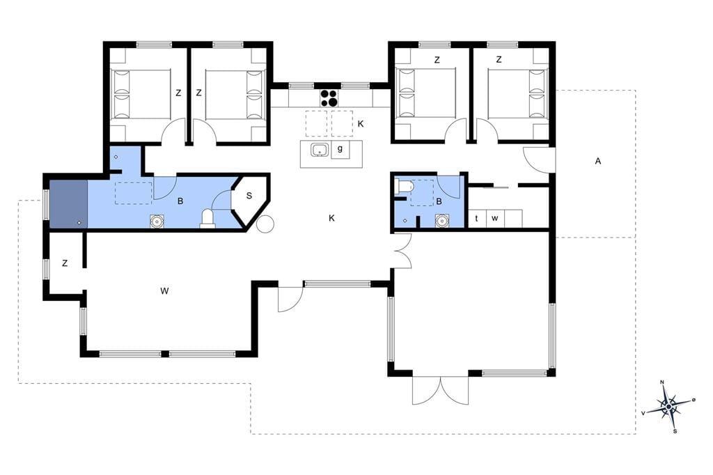 Innenausstattung 1-173 Ferienhaus BV155, Grønnevænget 1, DK - 6857 Blåvand
