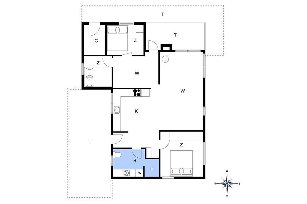 Indretning 1-13 Sommerhus 273, Sarasvej 33, DK - 7752 Snedsted