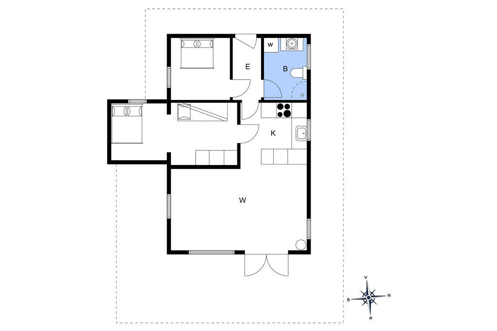 Indretning 1-3 Sommerhus M66553, Snerlevej 2, DK - 5300 Kerteminde